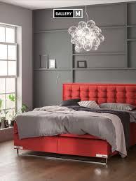 rot wie leidenschaft haus deko bett schlafzimmer einrichten
