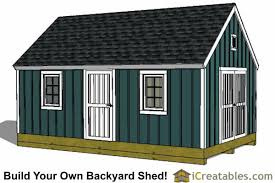 16x24 colonial style shed plans