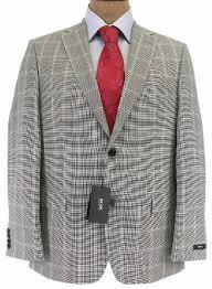 hugo plaid suit hugo mens 2 button black white plaid wool sport coat jacket