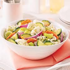 cuisine chou salade de chou fleur carottes et courgettes marinées recettes