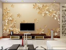 Golden Snowflakes 3D Room Wallpaper Beautiful Bedroom Custom Non Woven Decor In Wallpapers From Home Improvement On Aliexpress