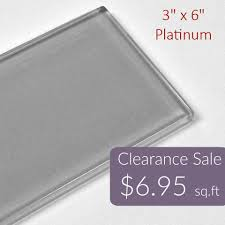 3x6 platinum glass subway series gloss finish 6 95 per square