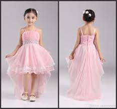 factory wholesale 4 12 years party dress 2016 new pink flower
