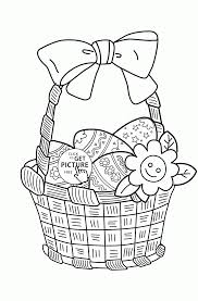 Easter Basket Coloring Pages Printable Egg