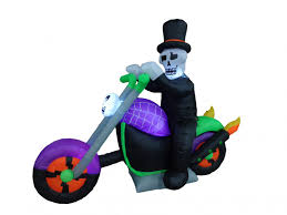 Halloween Blow Up Decorations For The Yard by Halloween Inflatable Ghost Motorcycle Bike Skeleton Blowup Air