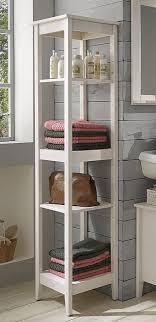 Standregal Badezimmer Badezimmer Regal 42x165x34cm 4 Fächer Kiefer Massiv