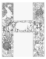 Animal Colouring Pages For Adults Letters H