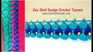 100 Sea Shell Design Shell Crochet Tassels Most Awaited Tutorial Festival