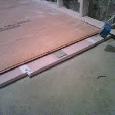 Floating Plywood Floor On Rigid Foam Insulation Concrete Best Flooring Over Slab Good