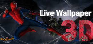 free download spiderman homecoming live wallpaper 3d