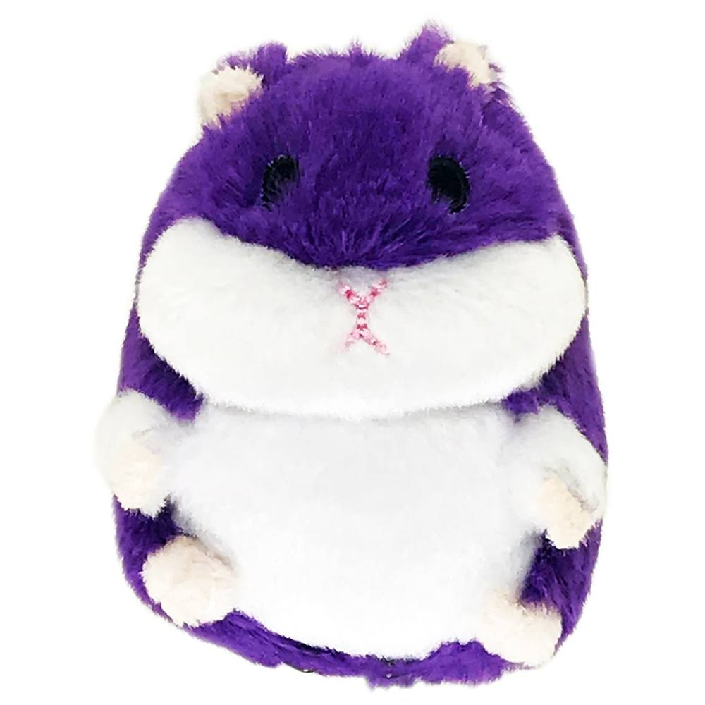 Petsport Tiny Tots Fat Hamster Purple Plush Dog Toy
