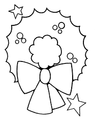 Pre K Christmas Coloring Pages Wreath