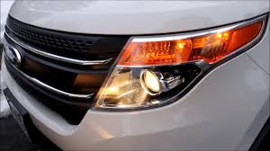 how to replace 2011 ford explorer headlight bulb