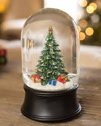 christmas tree musical snow globe balsam hill