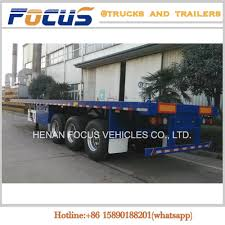 China Cimc 20FT 40FT 3 Axles Flatbed Container Truck Trailer Photos ...