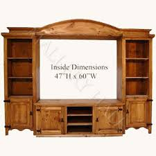 Rustic Pine 4 Piece TV Wall Unit