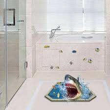 Decals For Bathrooms by Removable Creative 3d Effect Shark Vinyl Decals For Bathroom Kids