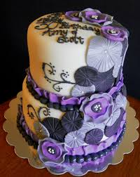 Purple Black Silver Cake 634x798 15 Wedding Cakes Ideas