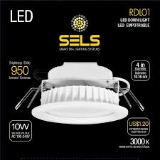 White Downlighter Conversion Kit Convert by Sels Led Recessed Light Led Downlight 10 Watts 4 Inch 950 Lumens