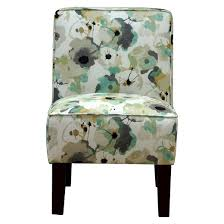 burke accent print slipper chair ostara aqua threshold target