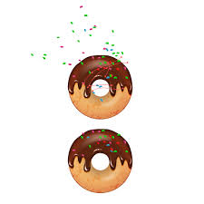 sprinkles on chocolate donut