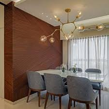 This Is An Example Of A Contemporary Dining Room In Mumbai