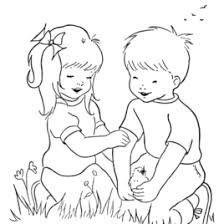 Coloring Pages Of Kids Playing AZ