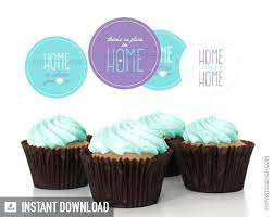 Cake Ideas For Housewarming Party House Warming Cupcake Toppers Circles Welcome Home Cupcakes