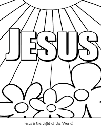 Great Preschool Sunday School Coloring Pages