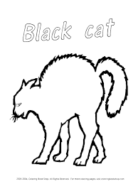 Black Cat Coloring Pages Printables