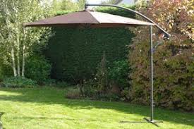 uk gardens 3m brown cantilever parasol umbrella reduced large