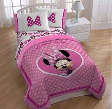 Minnie Mouse Cute Bows Twin Full Size Comforter BeddingMinnie Room DecorMickey