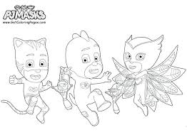 Coloring Pages Of Pj Masks New Mask Page Get