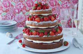 Rustic Naked Victoria Sponge Layer Cake Recipe