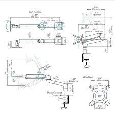 Vesa Desk Mount Articulating Arm by Articulating Monitor Arm Grommet Or Desk Mount W Gas Spring