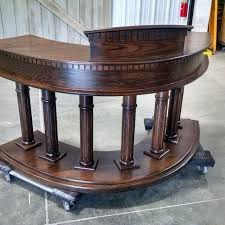 Hand Made Pulpit In Solid Red Oak by Walnut Creek Furniture