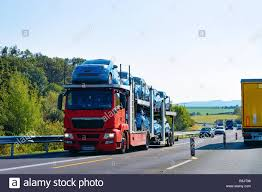 100 Truck Carrier Cars Carrier Truck On The Asphalt Road Poland Transporter