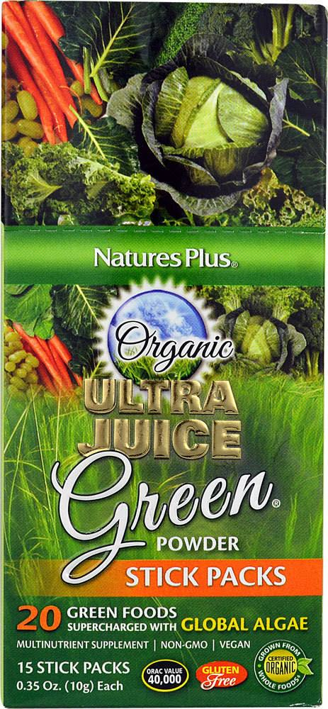 Nature's Plus Organic Ultra Juice Green Powder - 15 ct