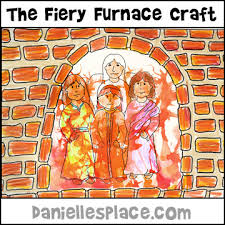 Shadrach Meshach And Abednego In A Fiery Furance Bible Craft From Daniellesplace