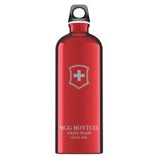 Classic Water Bottle SIGG 1 Liter 6 Swiss Emblem Red
