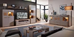 plus ii wohnzimmerkomplettset 1 inkl led beleuchtung grau braun abs eiche altholz günstig möbel küchen büromöbel kaufen froschkönig24