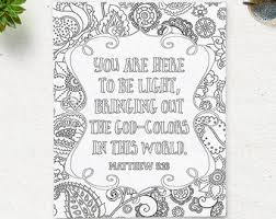 Bible Verse Printable Coloring Page Matthew 516 Instant Download Pages Quote