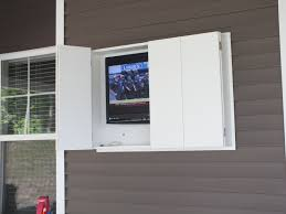 Outdoor TV cabinet made from weatherproof PVC