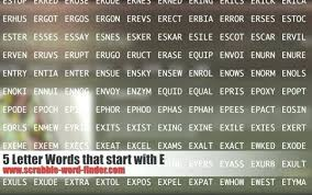4 letter words that start with e – aimcoach