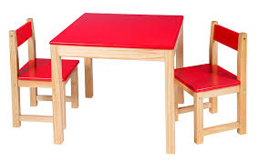 Alex Toys Table Chair Set Red Wooden Furniture