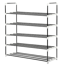 Stackable Shoe Rack MaidMAX 5 Tier Metal Shoe Storage Tower