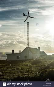 100 Tarifa House Spain Andalusia House With Wind Wheel Stock Photo