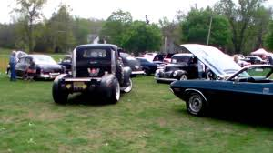 Semi Rat Rod Truck With Stacks Cruising The Grounds - YouTube