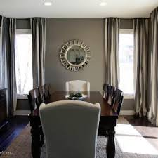 Dining Room Paint Colors Excellent Masculine Decors Ideas With Grey Wall Color And Thrilling Windows Covered