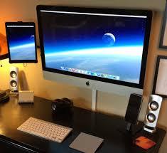 Vesa Desk Mount Imac by Mac Setup Wall Mounted Imac 27 U2033 With Ipad As Dual Display